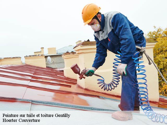 Peinture sur toiture à Gentilly tél: 01.84.35.11.45